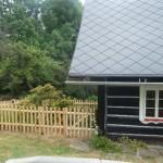 Dřevěný plot v1